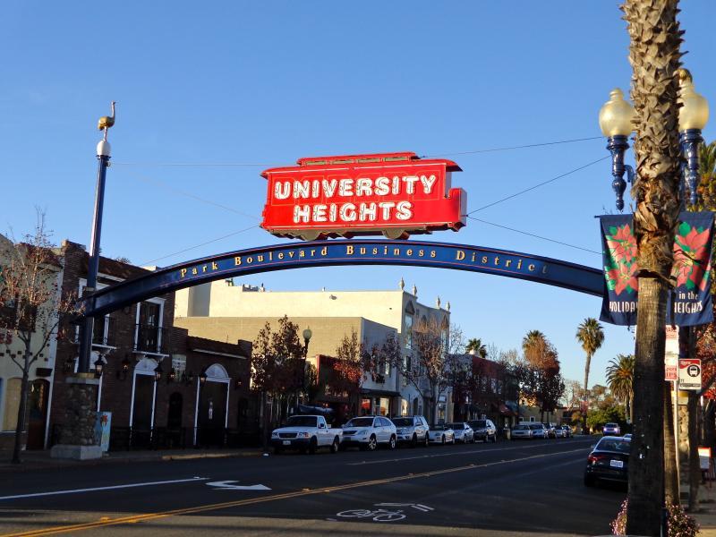 University Heights neighborhood entry sign